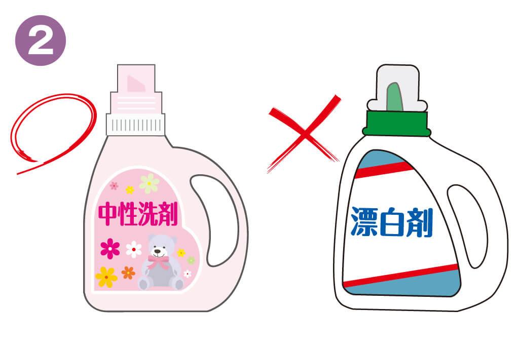 洗える着物の洗い方02_中性洗剤と柔軟剤を入れる