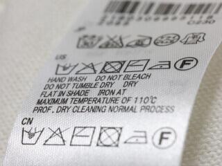 洗濯表示タグと下準備ic